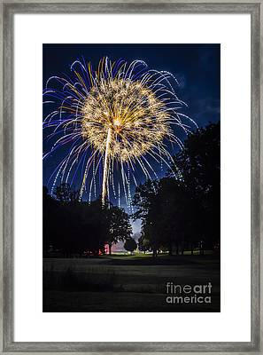 Sparkling 4th Of July Framed Print by Joann Long