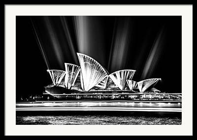 Light Projections Framed Prints