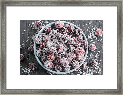 Sparkling Cranberries Framed Print by Elena Elisseeva