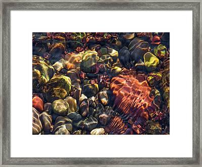 Sparkling Creek Bed 4 Framed Print by Leland D Howard