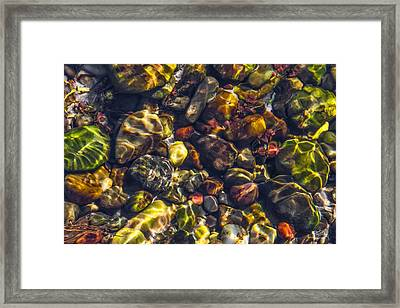 Sparkling Creek Bed Framed Print by Leland D Howard