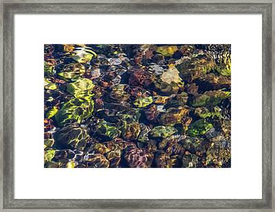 Sparkling Flowing Light Framed Print by Leland D Howard