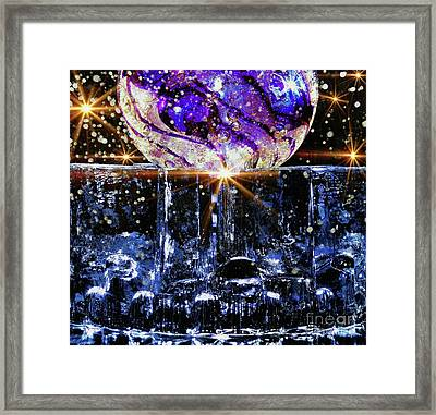 Sparkling Glass Framed Print