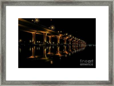 Sparkling Light Bridge Framed Print