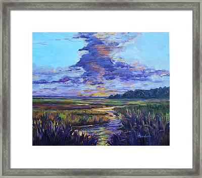 Sparkling Marsh Framed Print by Beth Maddox