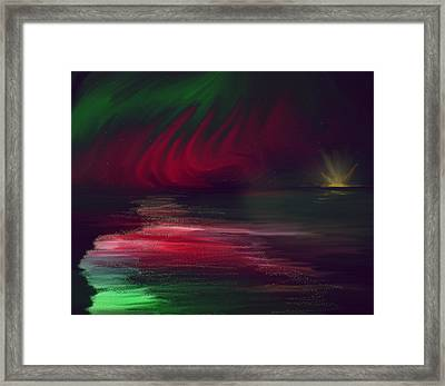 Sparkling Night Of The Aurora Borealis Framed Print by Angela A Stanton