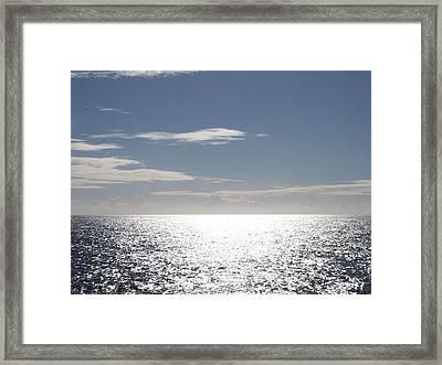 Sparkling Ocean Framed Print