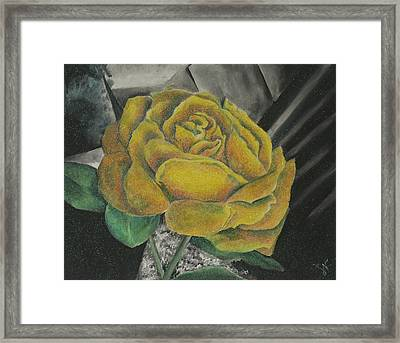 Sparkling Rose Framed Print by Miriam Shaw