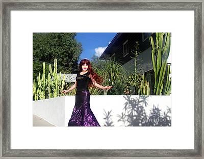 Sparkling Skirt. Ameynra Fashion Framed Print