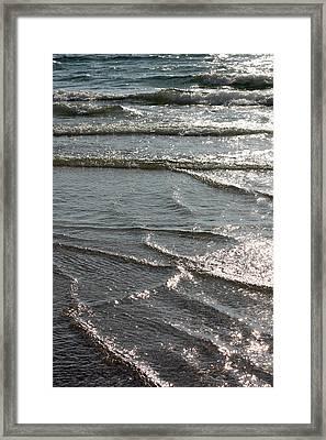 Sparkling Sunshine On Gentle Surf Framed Print by Carol Groenen