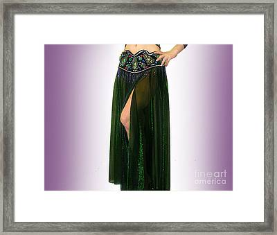 Sparkly Skirt. Ameynra Belly Dance Fashion 9 Framed Print by Sofia Metal Queen