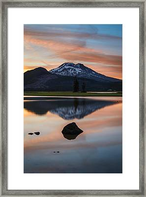 Sparks Lake At Sunset Framed Print