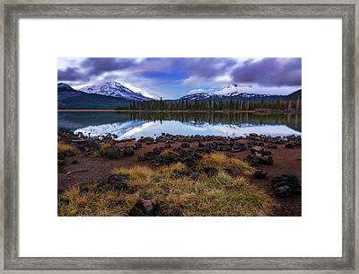 Framed Print featuring the photograph Sparks Lake by Cat Connor