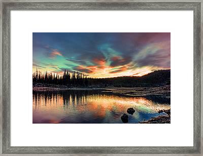 Sparks Lake Hues Framed Print