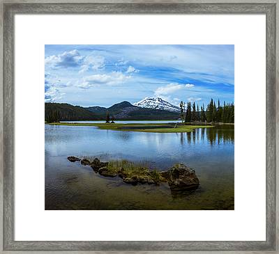 Sparks Lake, Oregon Framed Print
