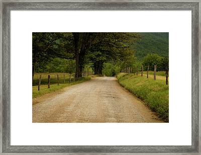 Sparks Lane - Cades Cove Framed Print by Andrew Soundarajan