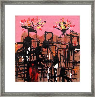 Sparks- Pink Sky Framed Print by Mary Carol Williams