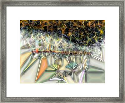 Framed Print featuring the digital art Sparks by Ron Bissett