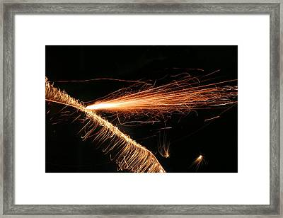 Sparks Will Fly Framed Print by Kristin Elmquist