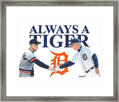 Sparky Anderson And Jim Leyland Framed Print