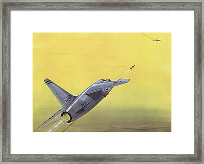 Sparrow Air To Air Missile  Framed Print by American School