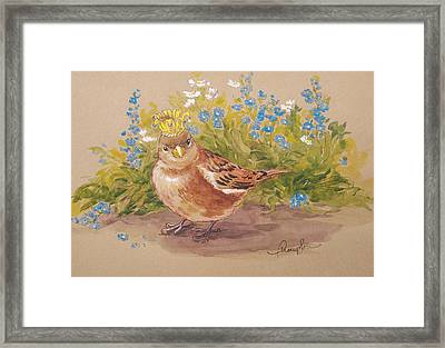 Sparrow Queen Framed Print by Tracie Thompson