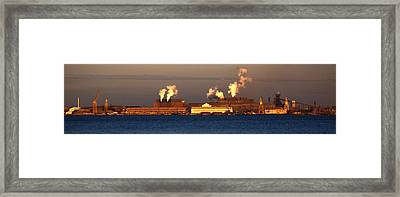Sparrows Point Steel Mill Maryland  Framed Print by Wayne Higgs
