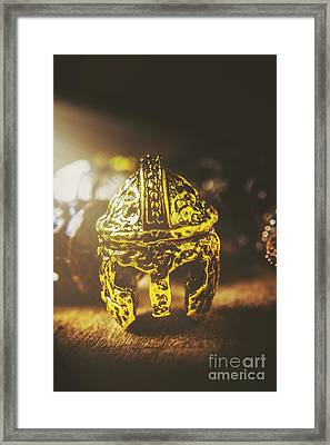 Spartan Military Helmet Framed Print by Jorgo Photography - Wall Art Gallery