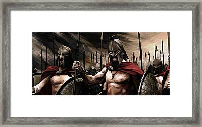 Spartans 300 Framed Print by James Shepherd