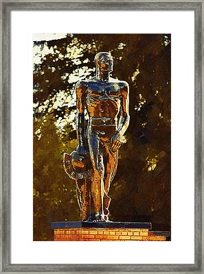 Sparty Framed Print by Paul Bartoszek
