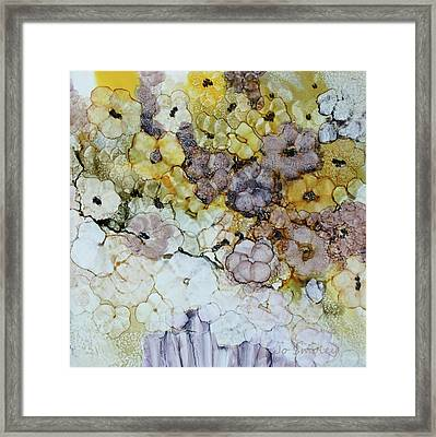 Framed Print featuring the painting Spash Of Sunshine by Joanne Smoley