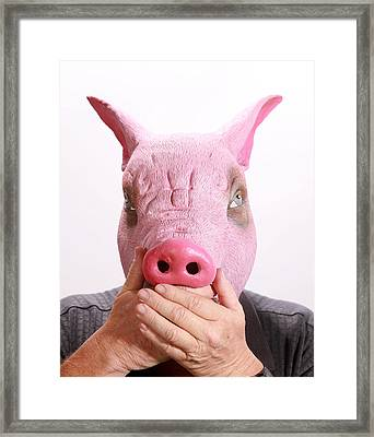 Speak No Swine Flu Framed Print by Michael Ledray