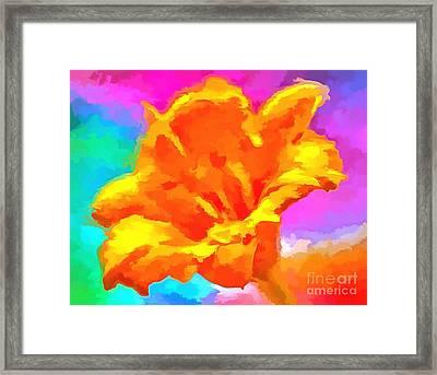 Speak Of Joy Framed Print by Krissy Katsimbras