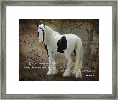 Speak To My Heart Framed Print