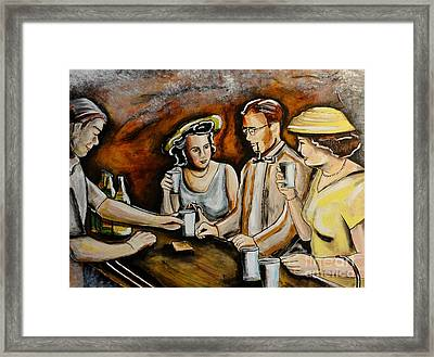 Neighborhood Pub Framed Print by Patricia Panopoulos