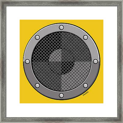 Framed Print featuring the digital art Speaker by Ron Magnes