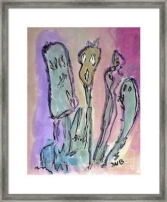 Speaking Flowers Framed Print by J Nell  Bliss