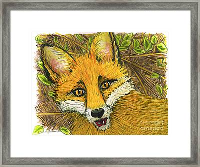 Speaking Fox Framed Print by Laura Brightwood