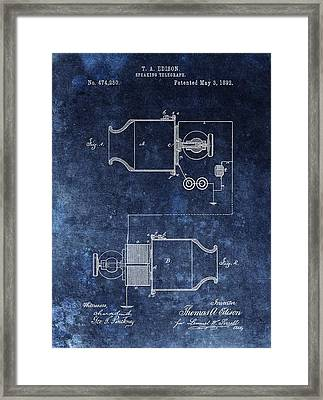 Speaking Telegraph Patent Framed Print by Dan Sproul