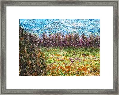 Speaking The Landscape Framed Print by Jason Messinger