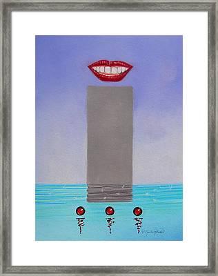 Speaks So Highly Of You Framed Print by R Neville Johnston