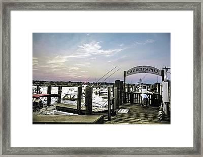 Speared Sunset Over Martha's Vineyard Framed Print by Madeline Ellis