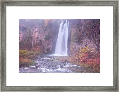 Spearfish Falls Framed Print