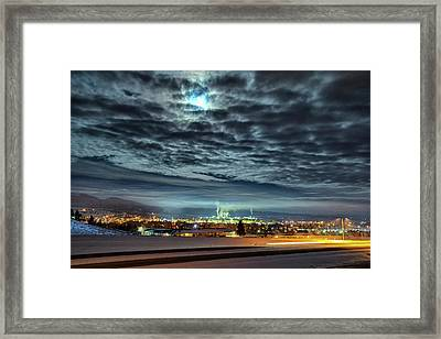 Spearfish Under The Moon Framed Print by Fiskr Larsen