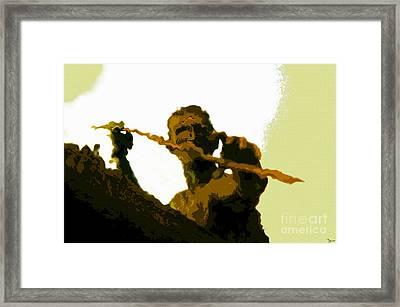 Spearfishing Man Framed Print by David Lee Thompson