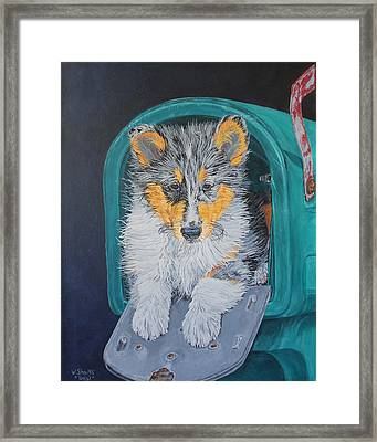 Framed Print featuring the painting Special Delivery by Wendy Shoults