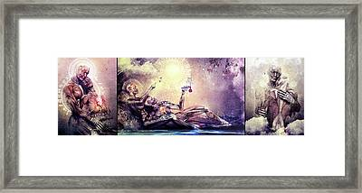 Special Edition Three In One Panel Love Set Framed Print by Cameron Gray