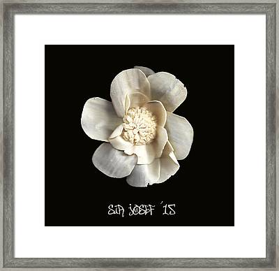 Special Magic Flower - For A Special Lady Framed Print by Sir Josef - Social Critic -  Maha Art