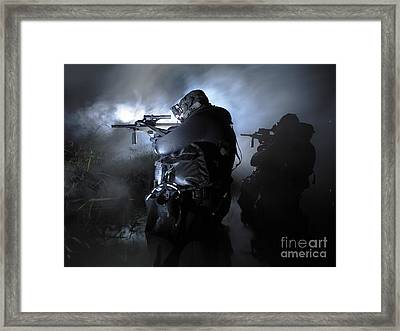 Special Operation Forces Combat Divers Framed Print by Tom Weber