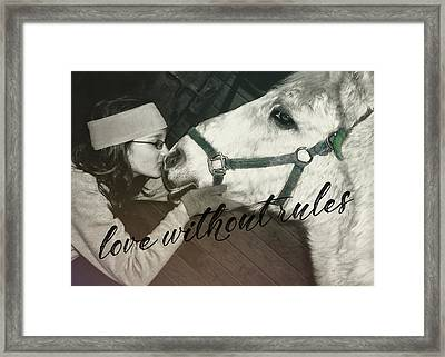 Special Pony Quote Framed Print by JAMART Photography